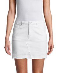 Kensie - Denim Mini Skirt - Lyst