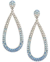 Nadri - Ombre Stone And Silver Drop Earrings - Lyst