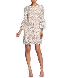 Dress the Population - Paige Bell-sleeve Crochet Mini Dress - Lyst