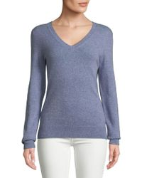 Lord & Taylor - Essential Cashmere V-neck Sweater - Lyst