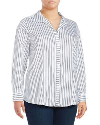 Foxcroft - Plus Ann Cotton Button-down Shirt - Lyst