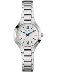 Bulova - Ladies' Classic Stainless Steel Watch - Lyst