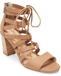 Me Too | Manda Leather Ghillie Sandals | Lyst