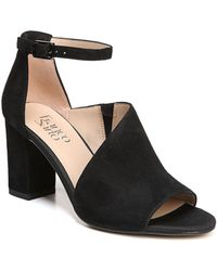 Franco Sarto - Gayle Suede Ankle-strap Court Shoes - Lyst