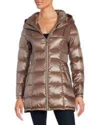 Ivanka Trump - Packable Hooded Down Puffer Coat - Lyst