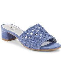 Adrianna Papell - Talulah Leather Slide Sandals - Lyst