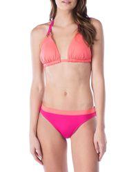 Lauren by Ralph Lauren - Colorblock Grommet Bikini Top - Lyst