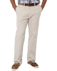 Nautica - Beacon Flat-front Pants - Lyst