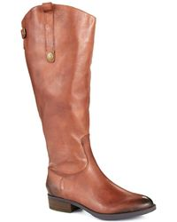 Sam Edelman - Penny Wide Calf Leather Boots - Lyst