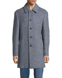 Tallia Orange - Marled Wool-blend Coat - Lyst