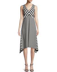 Jones New York - Striped Knit Dress - Lyst