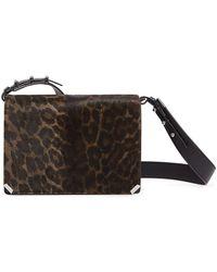 d09eeabc9086 Rebecca Minkoff Small Love Genuine Calf Hair Crossbody Bag in Black - Lyst