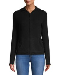 Lord & Taylor - Solid Cashmere Zip Hoodie - Lyst
