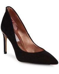 9daf2281dfe50 Ted Baker Ichlibi Bow Heels in Black - Lyst