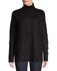 Lord & Taylor - Ribbed Turtleneck Sweater - Lyst