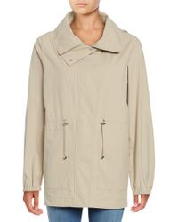 Bernardo - Hooded Drawstring Anorak Jacket - Lyst