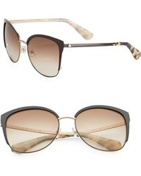 Kate Spade - Genice 57mm Round Sunglasses - Lyst
