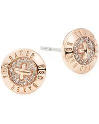 Ted Baker - Eisley Mini Button Earrings - Lyst