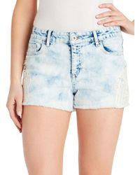 Jessica Simpson - Plus Distressed Denim Shorts - Lyst