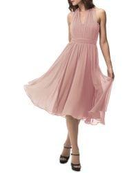 Jenny Yoo - Sweetheart Halter Overlay Dress - Lyst