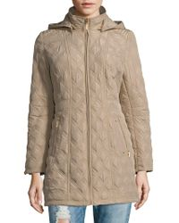 Weatherproof - Hooded Quilted Coat - Lyst