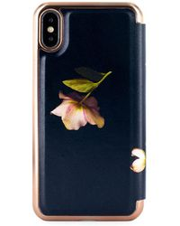 Ted Baker - Arboretum Mirror Folio Iphone Xs Max Case - Lyst