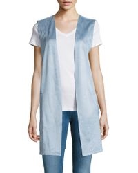 Lord & Taylor - Sleeveless Open Front Vest - Lyst