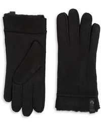 UGG - Leather And Shearling Sheepskin Gloves - Lyst