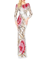 Mac Duggal - Sequined Mermaid Gown - Lyst