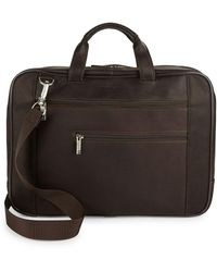 Kenneth Cole Reaction - Leather Laptop Bag - Lyst