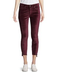 Lord & Taylor - Asymmetric Cuff Velvet Jeans - Lyst