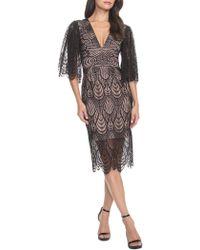 c4d49f9339d3 Dress the Population - Mia Scalloped Lace Dress - Lyst