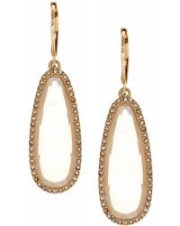 Lonna & Lilly - Studded Goldtone Drop Earrings - Lyst