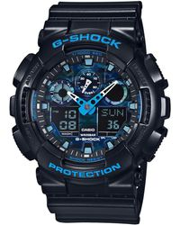 G-Shock Camo Face Resin Strap Watch - Black