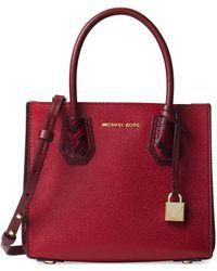 MICHAEL Michael Kors - Medium Mercer Accordion Leather Messenger Bag - Lyst