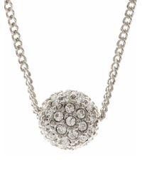 Givenchy - Silvertone Crystal Fireball Pendant - Lyst