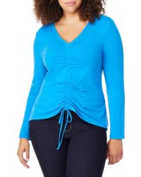 REBEL WILSON X ANGELS - Ruched Front V-neck Top - Lyst