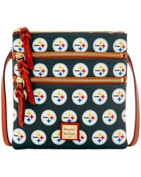 Dooney & Bourke - Nfl Steelers Triple Zip Crossbody - Lyst
