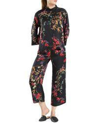 N Natori - Floral-print Silky Satin Pyjama Set - Lyst