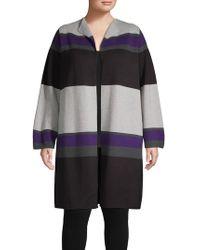 Calvin Klein - Striped Open-front Cardigan - Lyst