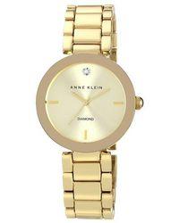 Anne Klein - Goldtone & Diamond Marker Bracelet Watch - Lyst