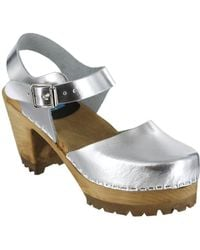 MIA - Abba Leather Ankle-strap Clogs - Lyst