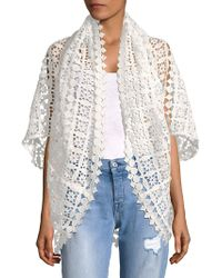 Laundry by Shelli Segal - Geometric Lace Cardigan - Lyst