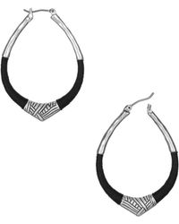 The Sak - Thread Wrapped Hoop Earrings - Lyst
