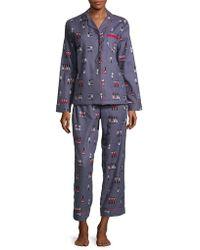 Lord & Taylor - Printed Cotton Pajamas - Lyst
