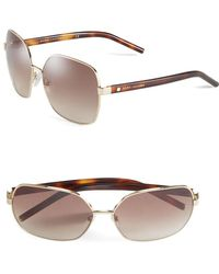 8dccdace3d8 Lyst - Marc Jacobs 61mm Square Sunglasses in Metallic