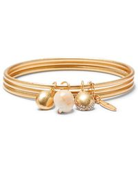 Sole Society Beachcomber Crystal Charm Bangle Bracelet