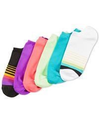 Hue - Six-pack Microfiber Liner Socks - Lyst