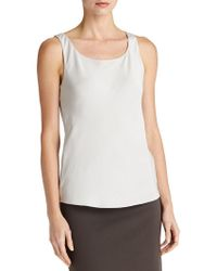 Lafayette 148 New York | Silk Double Georgette Bias Tank Top | Lyst