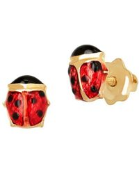 Lord & Taylor - Girl's 14k Yellow Gold Ladybug Stud Earrings - Lyst